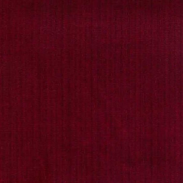 Amboise Claret Solid Color Cotton Velvet Fabric